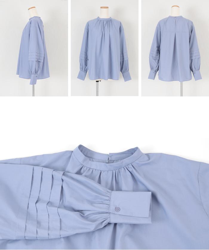 タックスリーブバンドカラーシャツ14