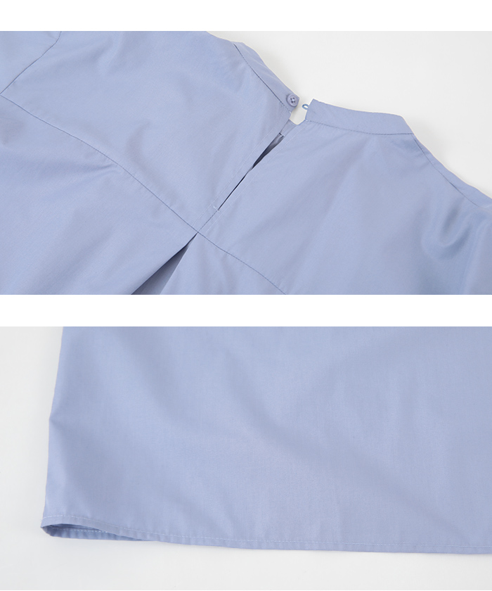 タックスリーブバンドカラーシャツ15