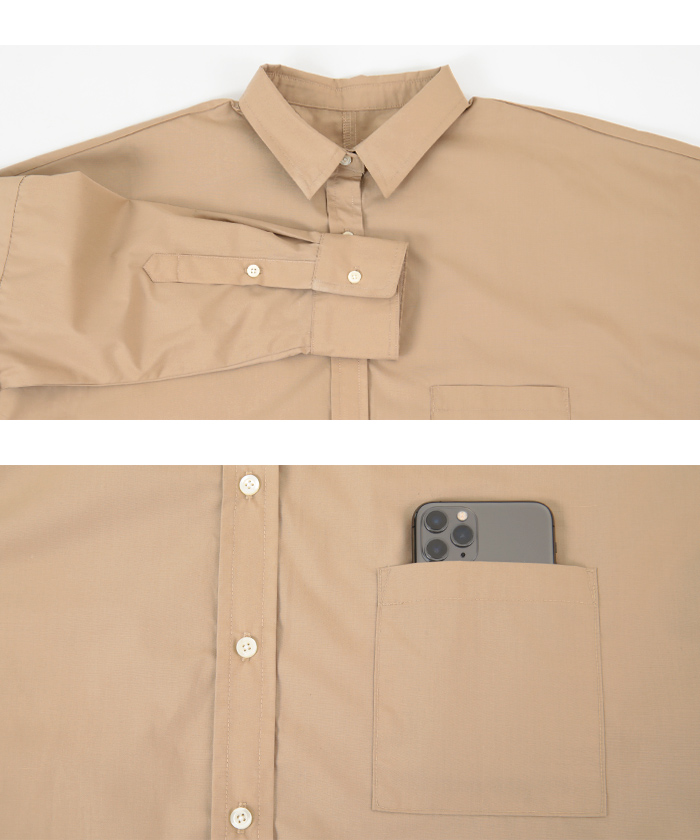 ドロップショルダーシャツ15