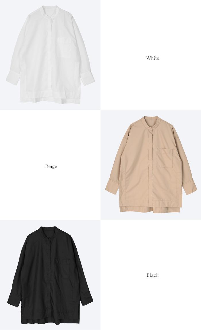バンドカラースリットシャツ13
