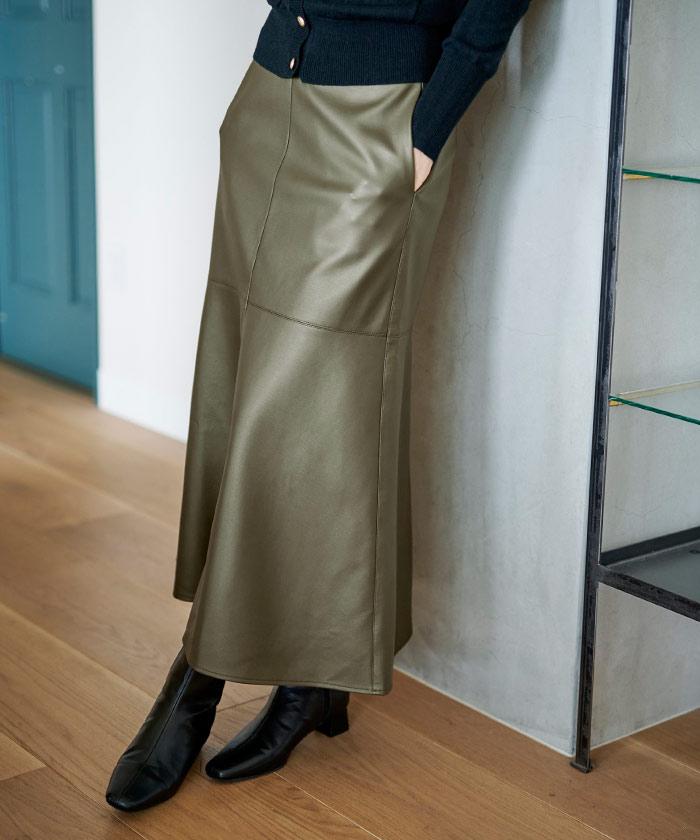 フェイクレザーマーメイドスカート5