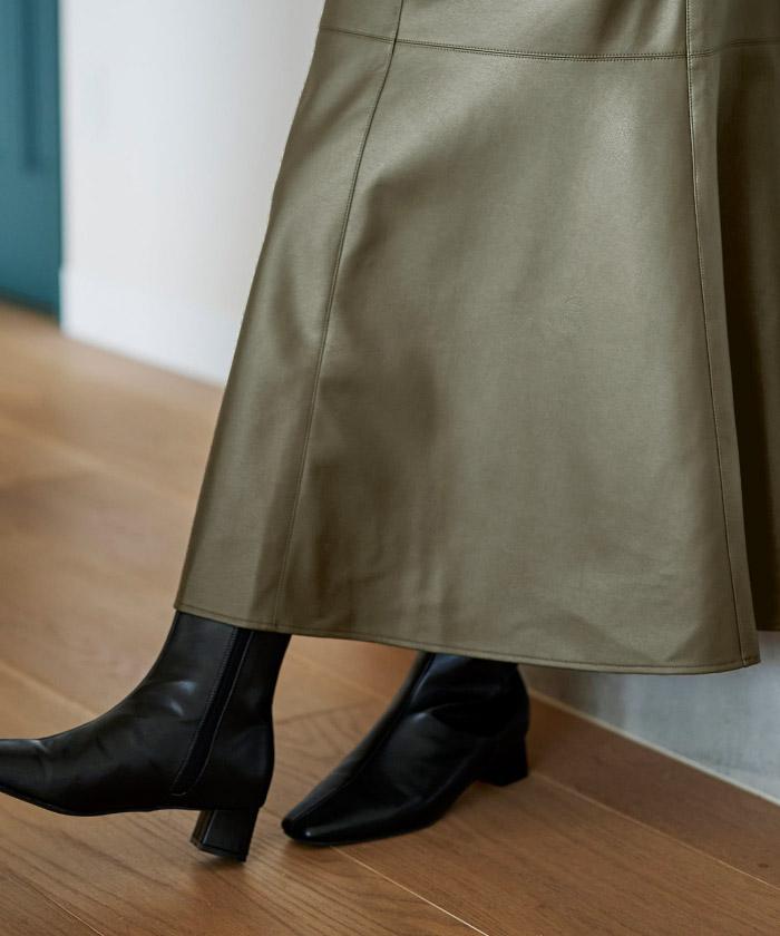フェイクレザーマーメイドスカート6