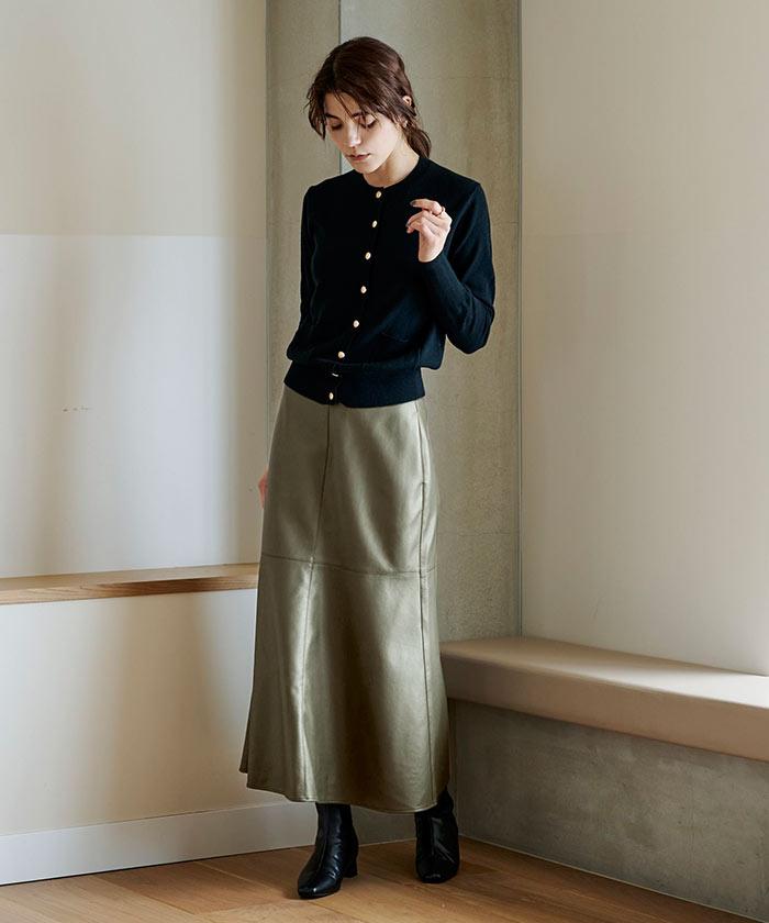 フェイクレザーマーメイドスカート1