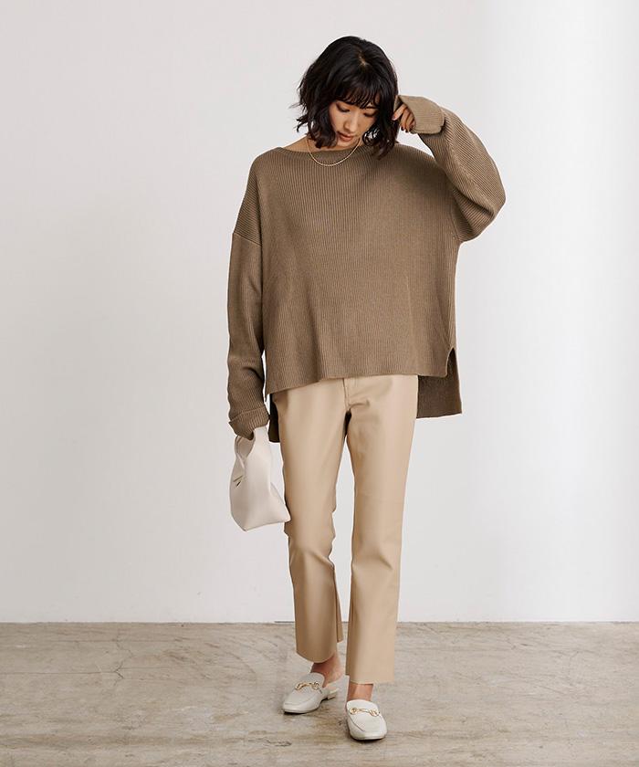 袖折り返しニット×タイトスカートセットアップ10