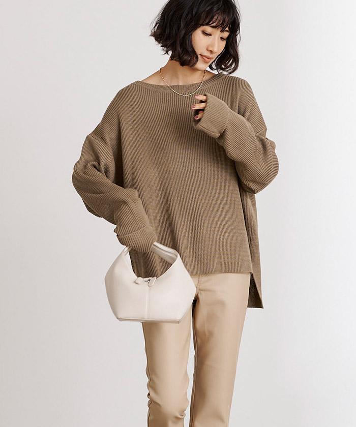 袖折り返しニット×タイトスカートセットアップ12