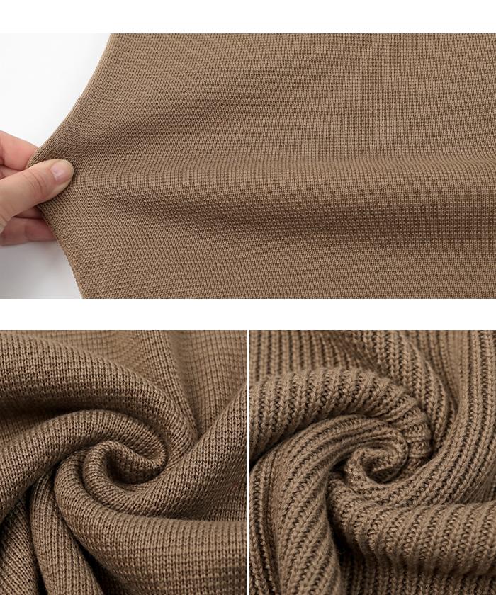 袖折り返しニット×タイトスカートセットアップ16