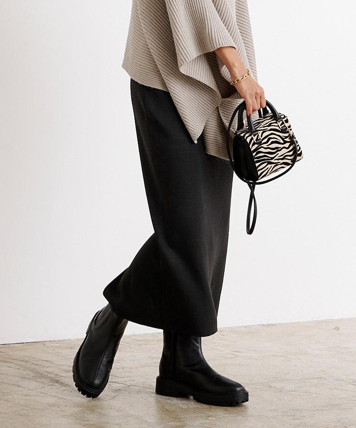袖折り返しニット×タイトスカートセットアップ11
